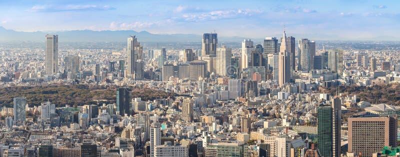 Tokio Shinjuku linie horyzontu obrazy stock