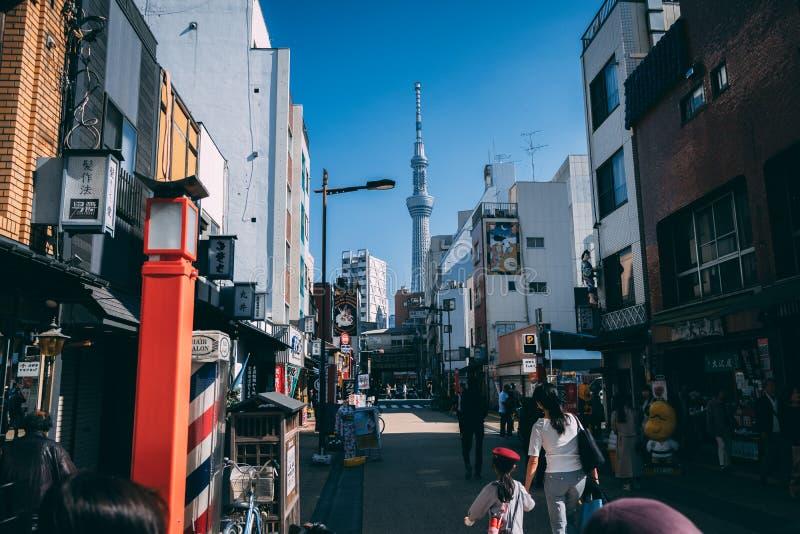 Tokio Skytree przy Asakusa terenem w Tokio, Japonia zdjęcia stock