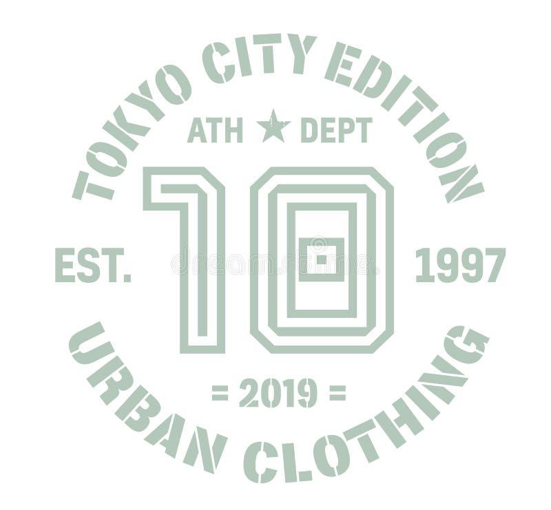 Tokio sporta koszulki projekt ilustracja wektor