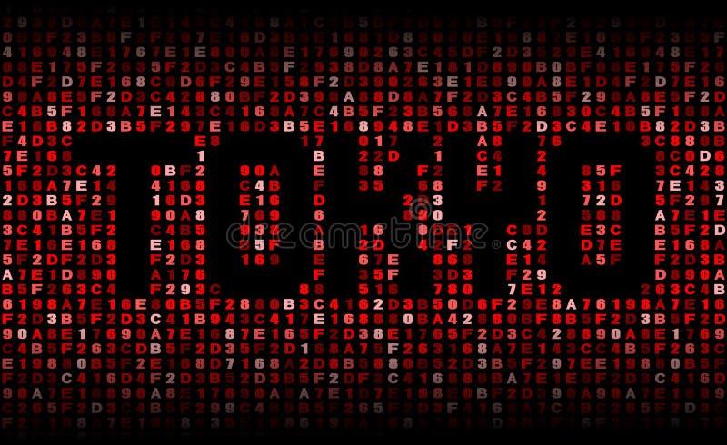 Tokio tekst na hex kodu ilustraci ilustracji