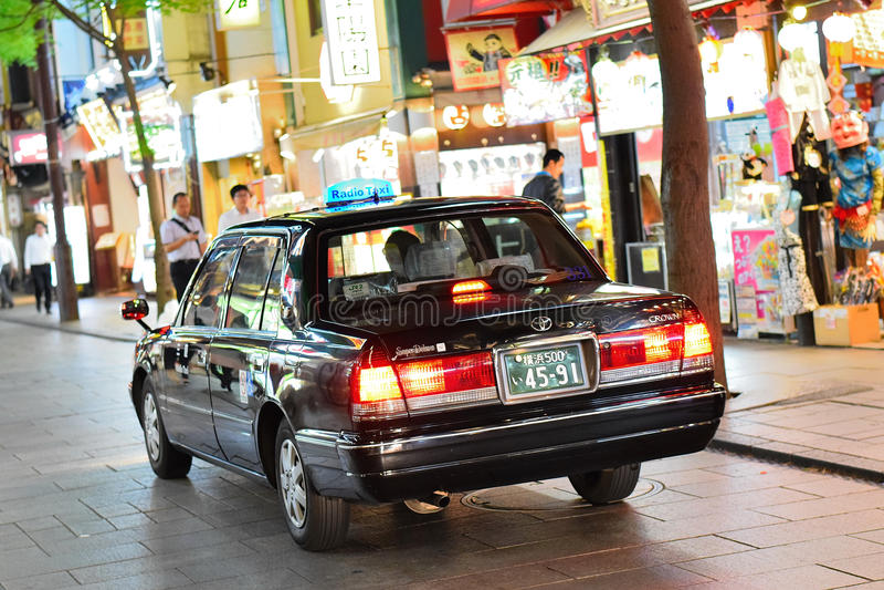 Tokio ulica & radia taxi obrazy stock