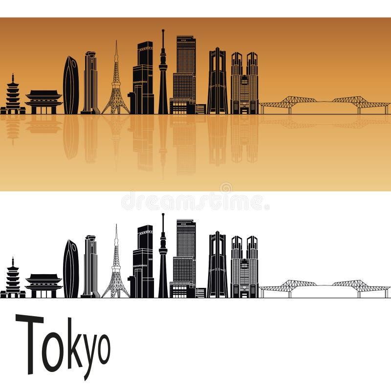Tokio V3 linia horyzontu ilustracji