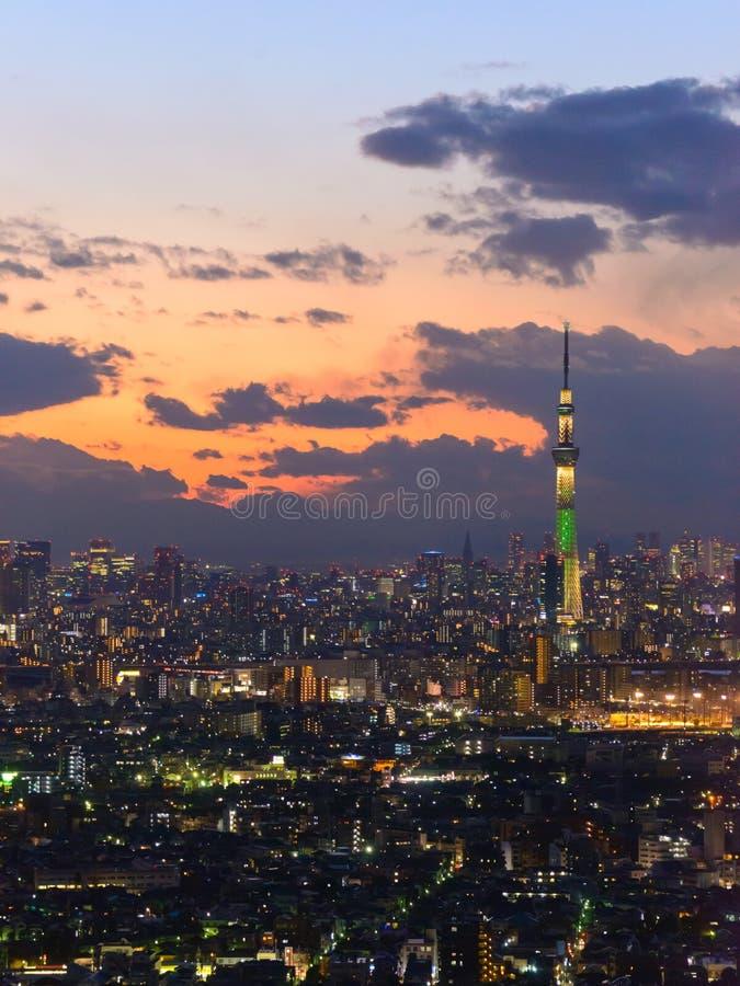 Tokio w zmierzchu zdjęcie stock