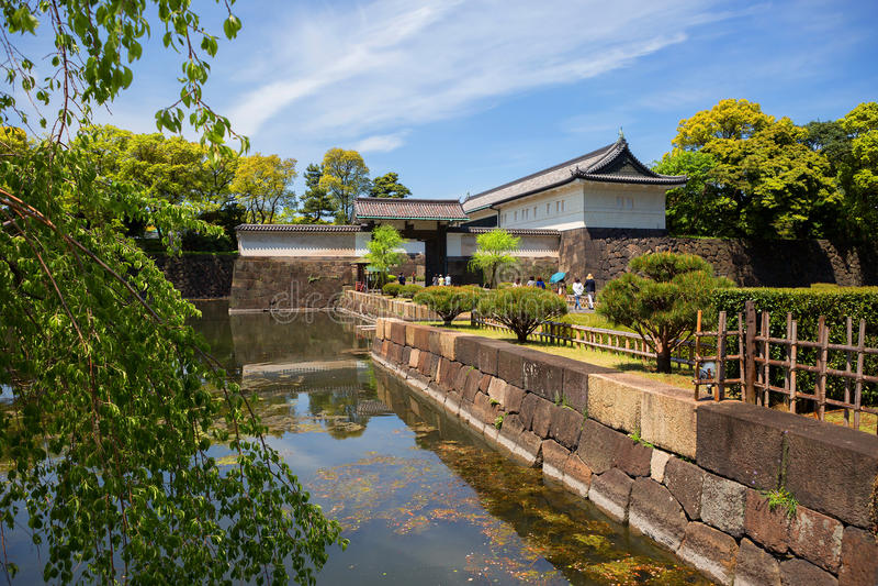 Tokio Wejście park Cesarski pałac zdjęcia royalty free