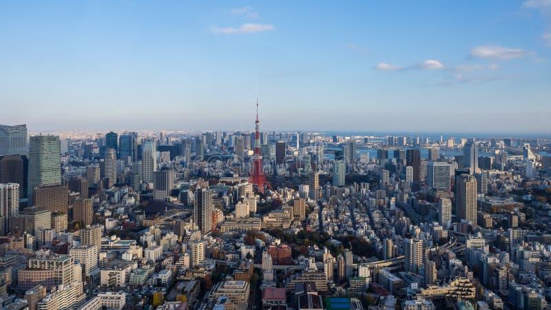Tokio wierza i Tokio pejzaż miejski zdjęcie stock