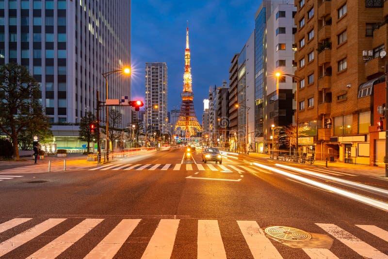 Tokio wierza zmierzch zdjęcie stock