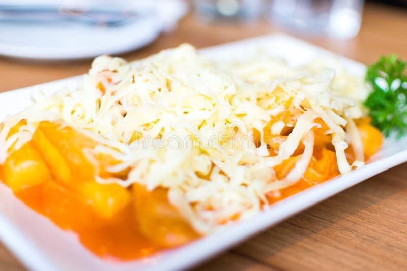 Tokpokki cheese royalty free stock photos