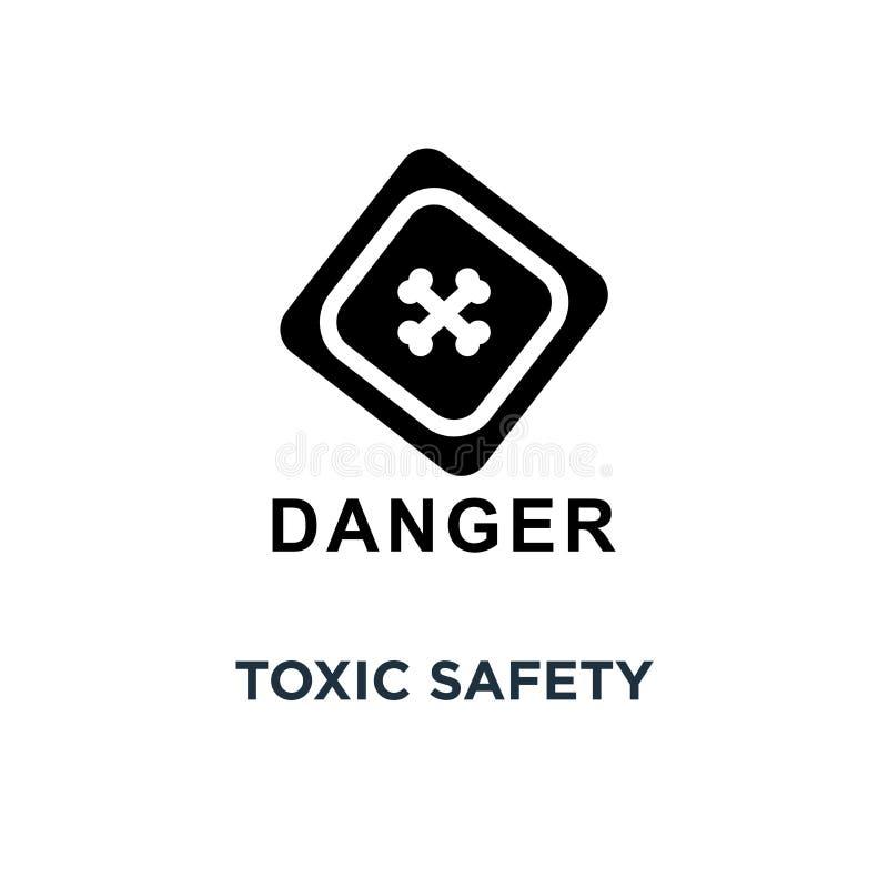 Toksyczna zbawczego znaka ikona Prosta element ilustracja Toksyczny safet ilustracji