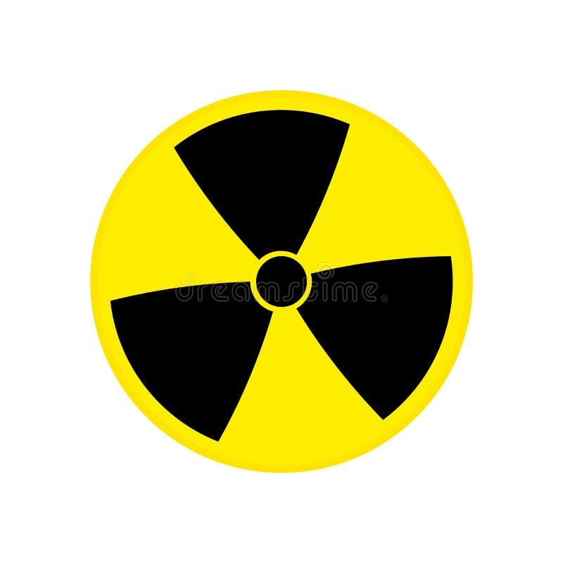 toksyczny Jądrowy szyldowy wektor eps10 Promieniotwórczego kontaminowania symbol Promieniotwórczego kontaminowania symbol również royalty ilustracja