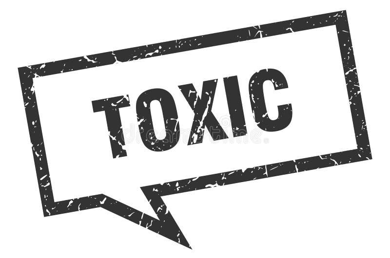 toksyczny mowa bąbel ilustracja wektor
