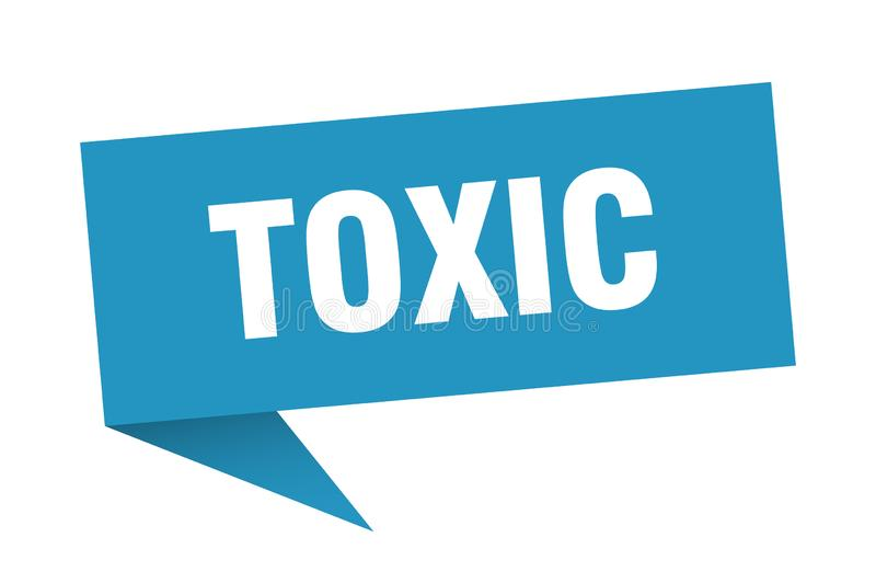 toksyczny mowa bąbel ilustracji