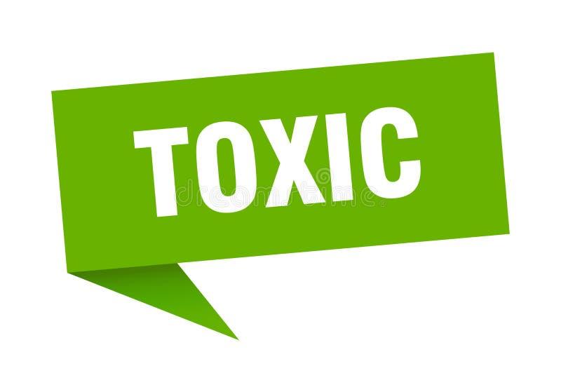 toksyczny mowa bąbel royalty ilustracja