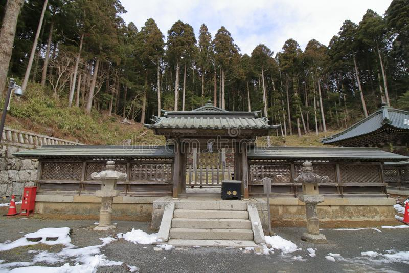 Tokugawa mausoleum i Koya, Wakayama arkivfoton
