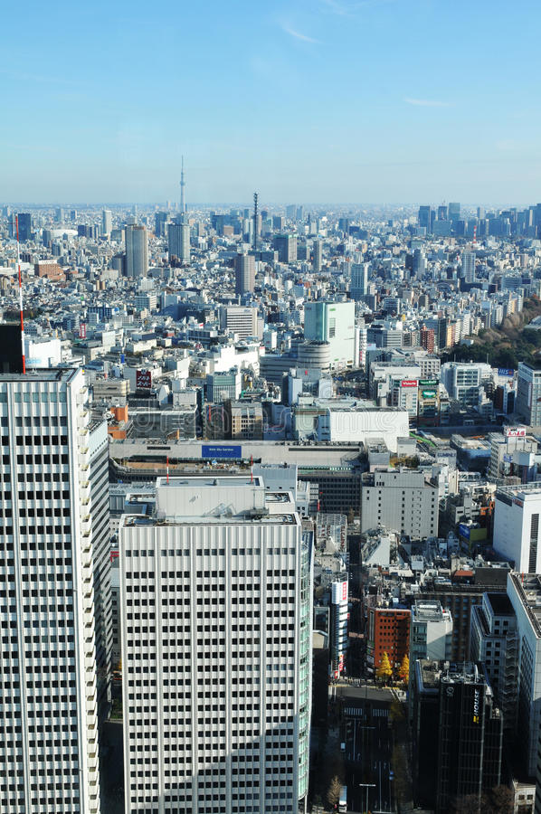 Tokyo aerial royalty free stock photography