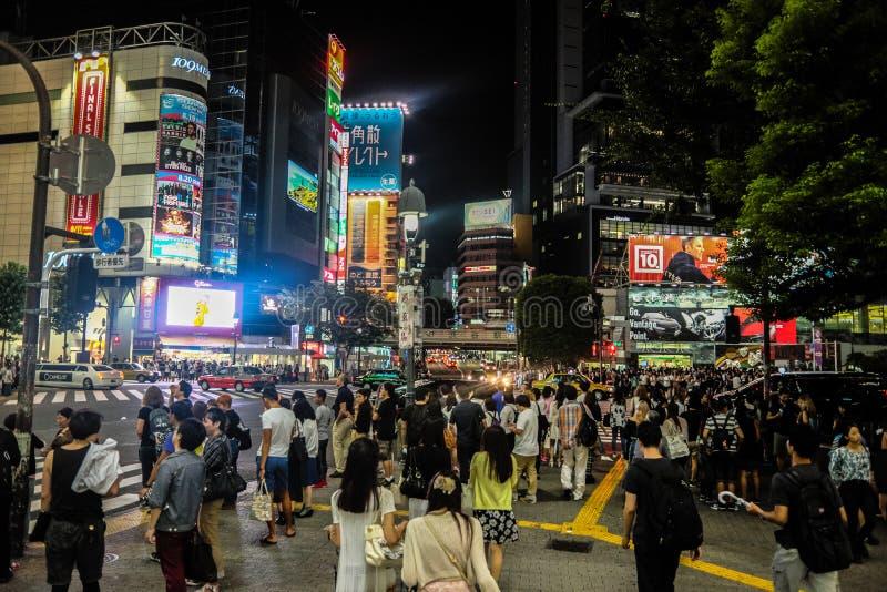 Tokyo alla notte immagini stock