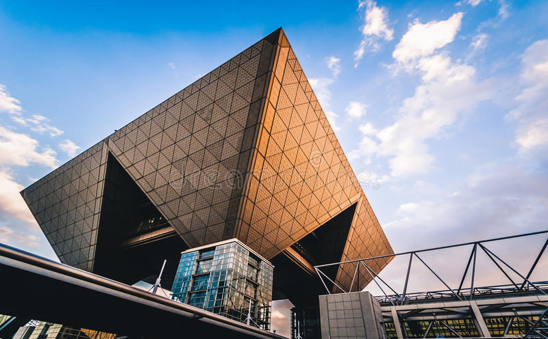 Tokyo Big Sight. Tokyo, Japan - December 30, 2014: Conference tower of the Tokyo Big Sight, officially known as Tokyo International Exhibition Center royalty free stock image