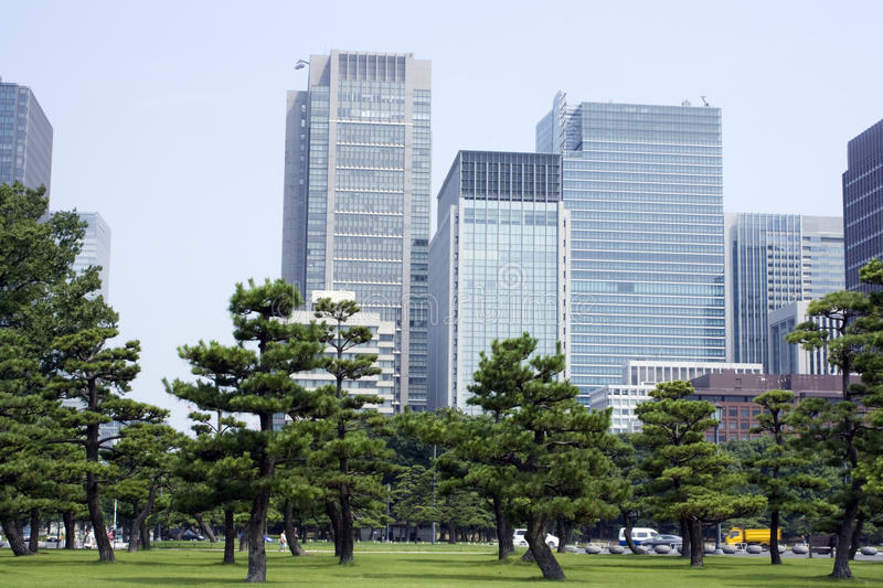 Tokyo business center royalty free stock photography