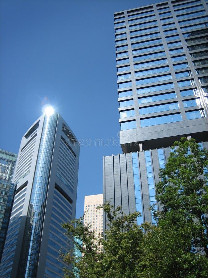 Tokyo CBD lizenzfreie stockbilder