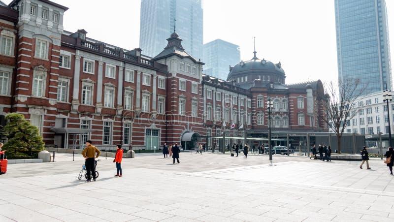 Tokyo central järnvägsstation arkivfoto