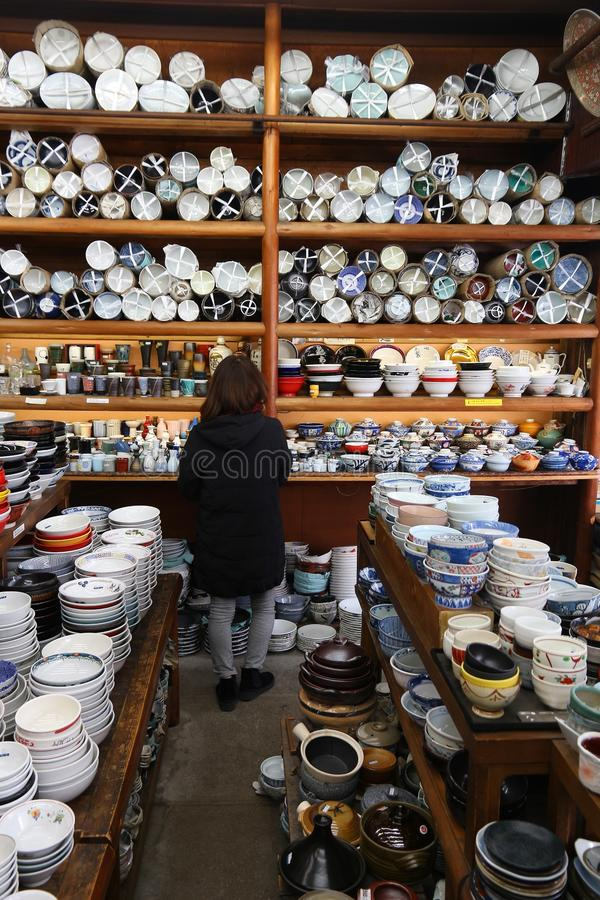 Tokyo ceramics store royalty free stock photography