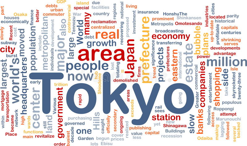 Tokyo city background concept stock illustration