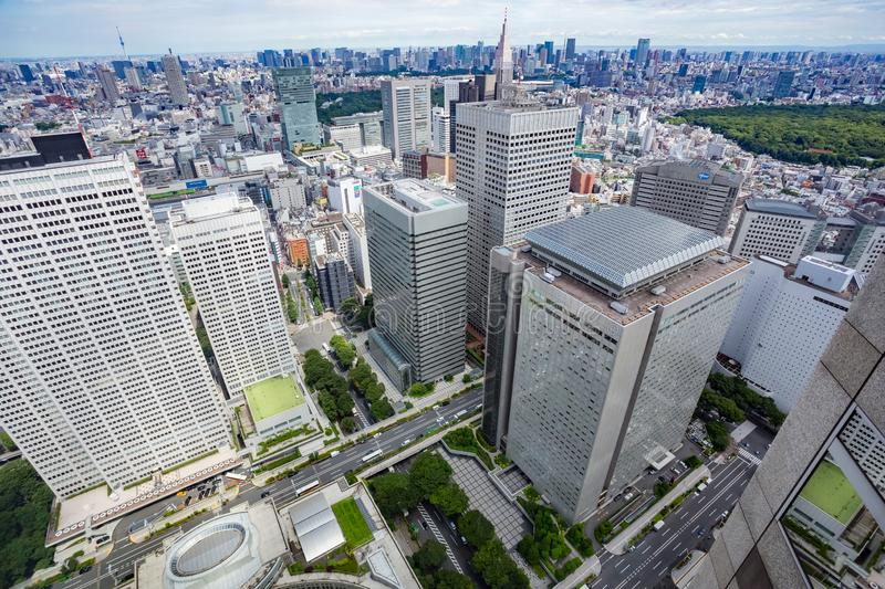 Tokyo city daytime aerial, Japan royalty free stock photography