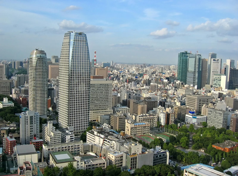 Download Tokyo City View stock image. Image of town, quarter, commerce - 453111