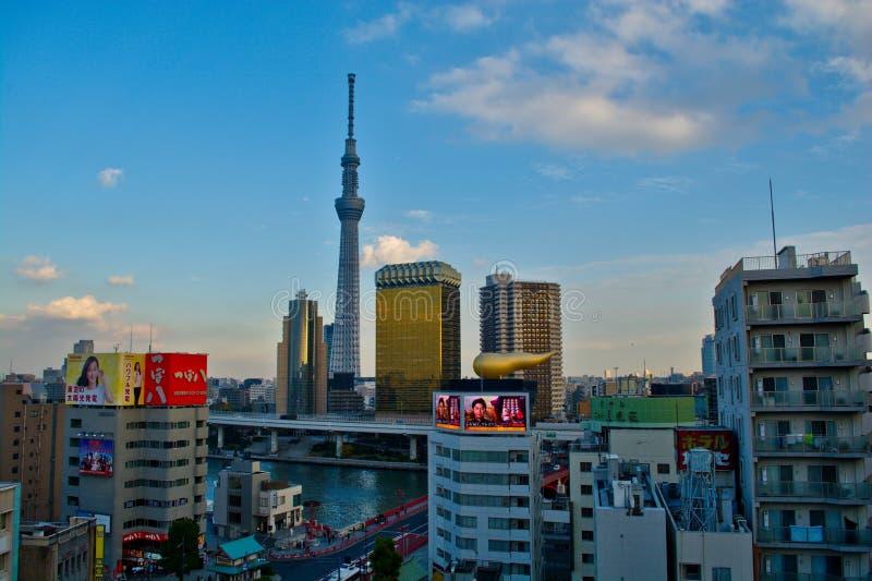 Tokyo city view from Asakusa royalty free stock image