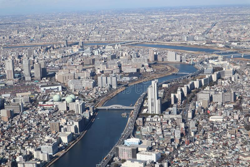 Tokyo city view from Skytree royalty free stock photo