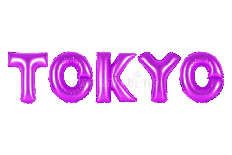Tokyo, colore porpora fotografie stock