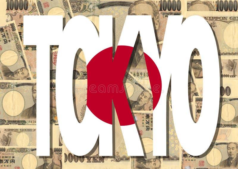 Tokyo com moeda japonesa ilustração royalty free