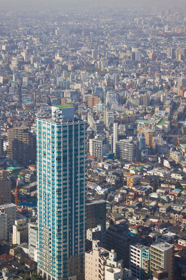 Download Tokyo dense city landscape stock image. Image of finance - 7561021