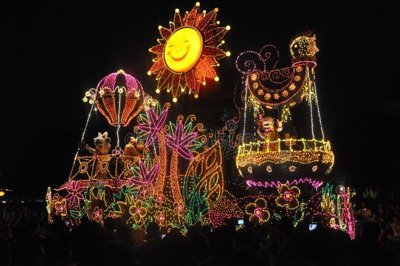 Tokyo Disney landen elektrische Parade. lizenzfreies stockfoto