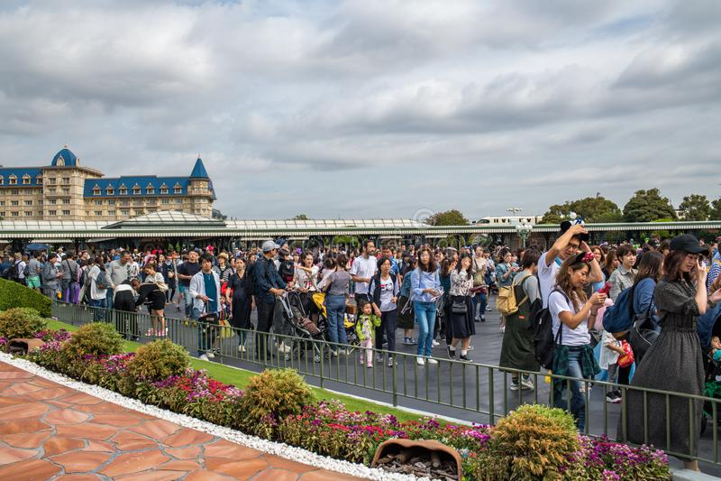 Tokyo Disneyland Resort in Japan stock fotografie