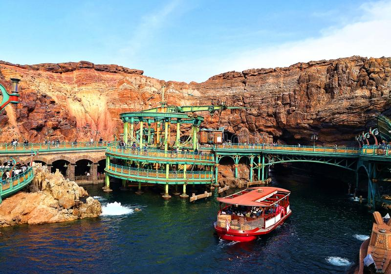Disneysea Tokyo Japan. Tokyo DisneySea is a 176-acre theme park at the Tokyo Disney Resort located in Urayasu, Chiba Prefecture, Japan, just outside Tokyo. It royalty free stock photo