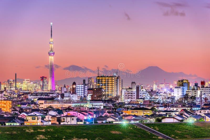 Tokyo et Fuji photos stock