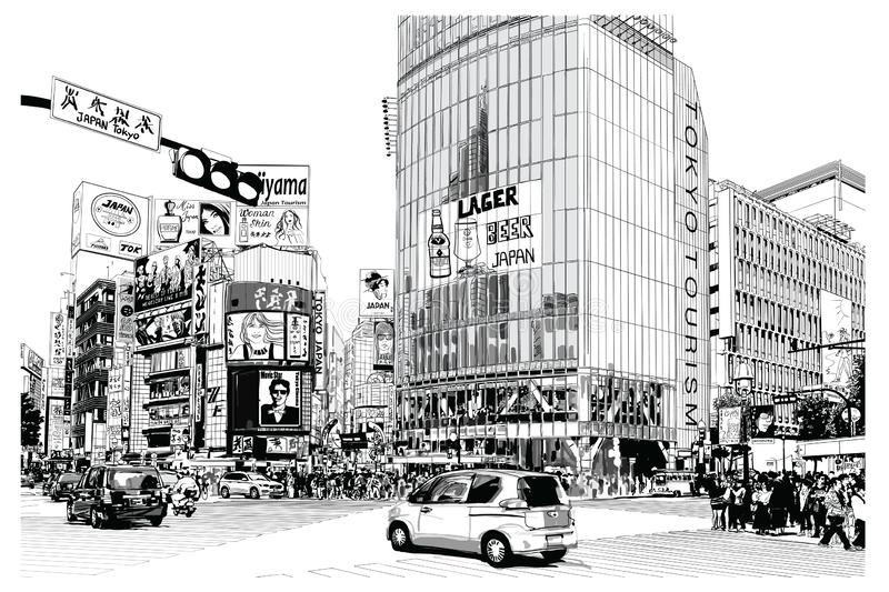 TOKYO, famous Shibuya crossroad stock photos