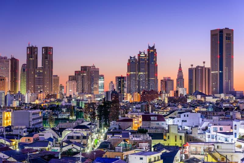 Tokyo Financial-Bezirks-Skyline lizenzfreie stockfotografie