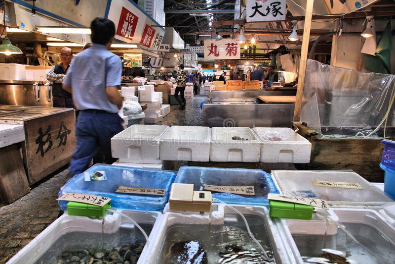 Tokyo fiskmarknad arkivfoto