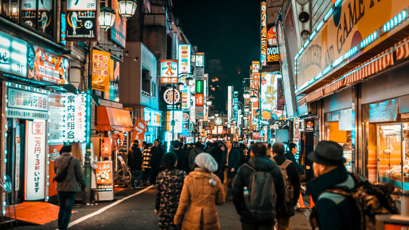 Tokyo gata arkivbild