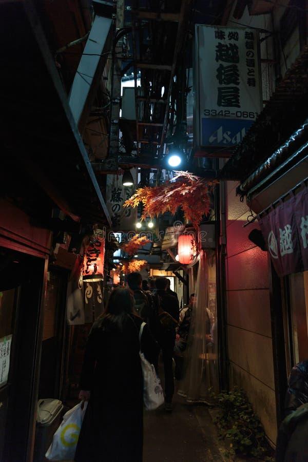 Tokyo gatamat arkivbilder