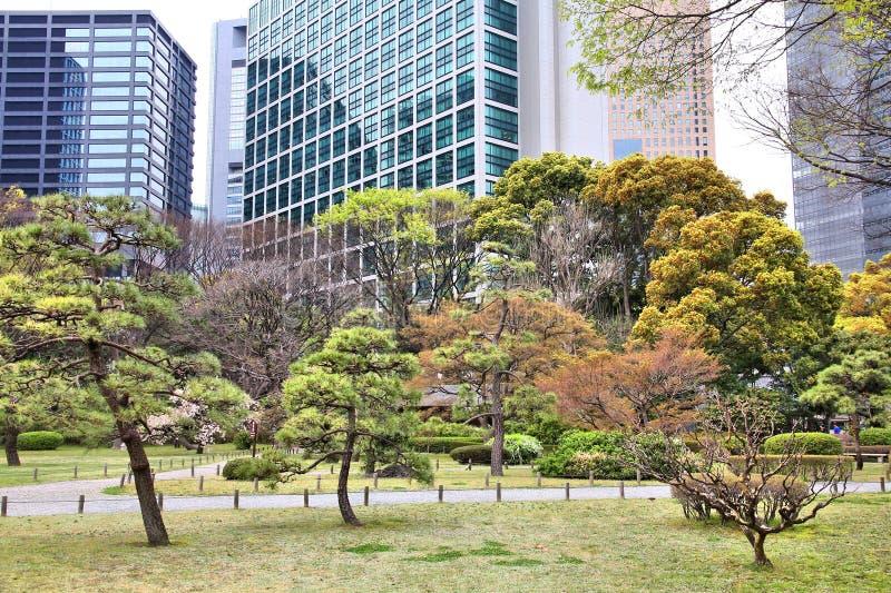 Tokyo hama rikyu fotografia stock immagine di citt for Giardino hamarikyu