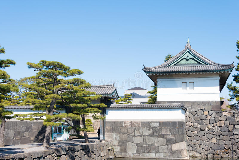 TOKYO, GIAPPONE - marzo 7,2014: portone di Kikyo-lunedì, Imperi fotografie stock