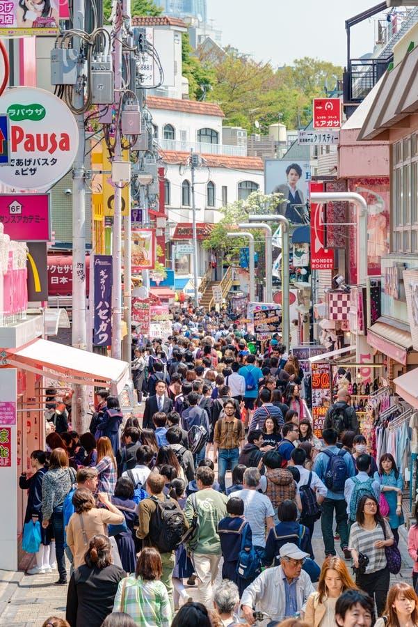 TOKYO, GIAPPONE: Via di Takeshita (Takeshita Dori) fotografia stock libera da diritti