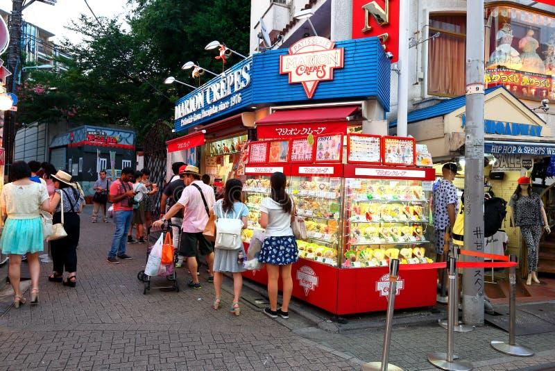TOKYO, GIAPPONE: Via di Takeshita (Takeshita Dori) immagine stock libera da diritti