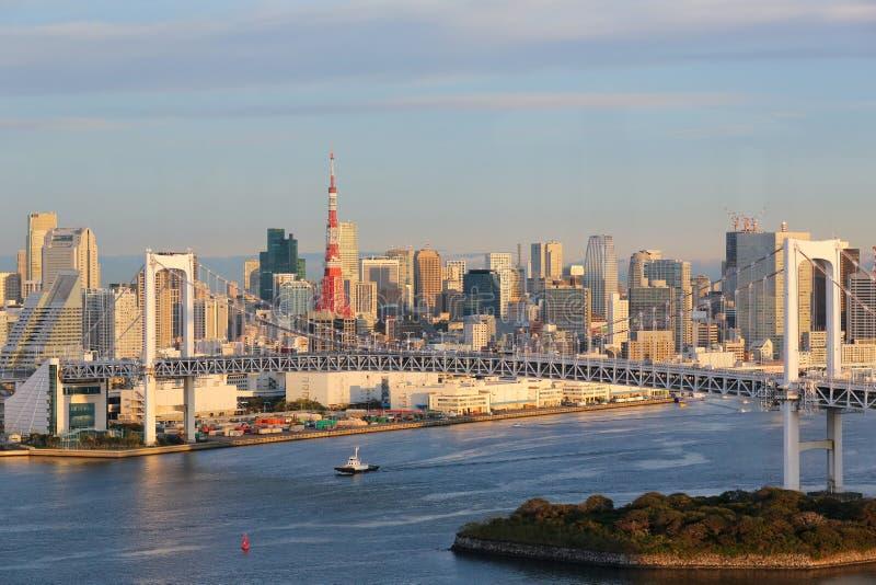 Tokyo horisont royaltyfria bilder