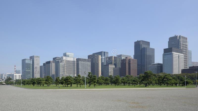 Tokyo, horizon de Chiyoda de palais impérial photographie stock libre de droits