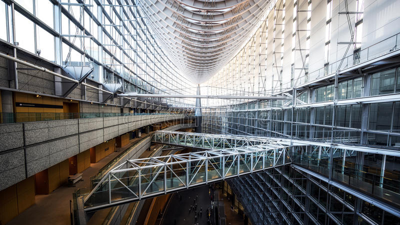 Tokyo international forum. Architectural view in marunouchi district in tokyo, japan royalty free stock photos