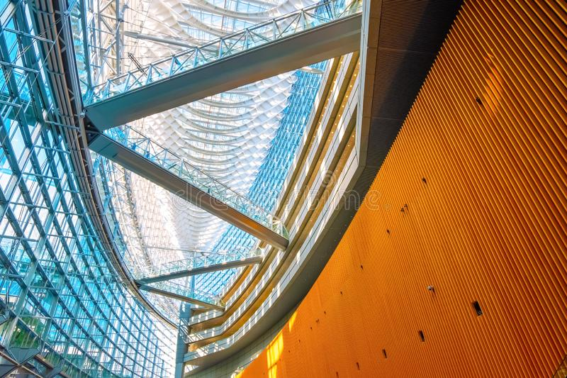 Tokyo International Forum - a multi-purpose exhibition center in Tokyo, Japan. Tokyo International Forum is a multi-purpose exhibition center, designed by royalty free stock photo