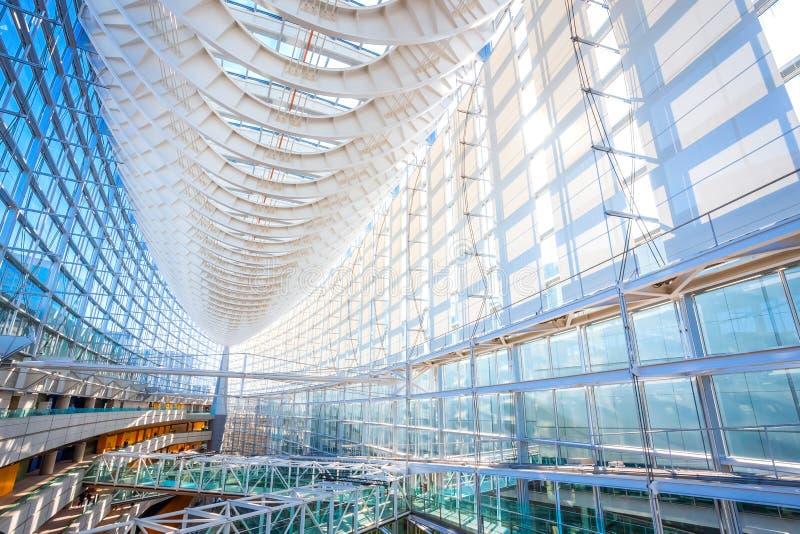 Tokyo International Forum - a multi-purpose exhibition center in Tokyo, Japan. Tokyo International Forum is a multi-purpose exhibition center, designed by royalty free stock photos